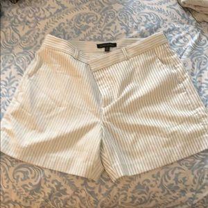 White pinstriped shorts